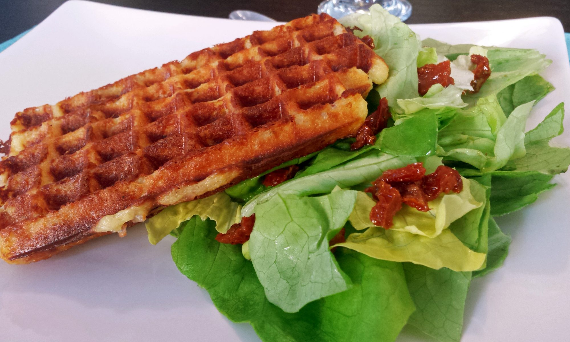 Gaufre salée bacon fromage