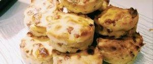 muffin chèvre noix et coeur coulis de tomate-maki
