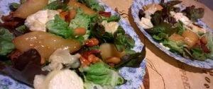 salade poire noix de cajoux chèvre et miel de kévin