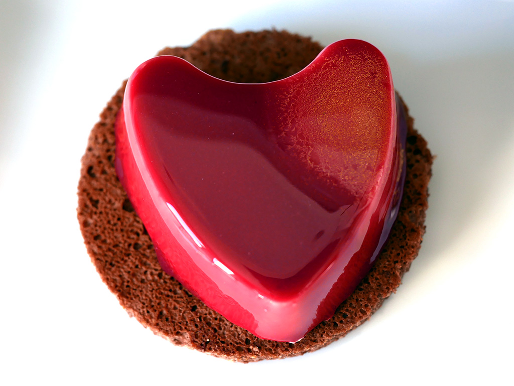 Cœur fondant au caramel