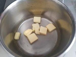 Pâte à choux - porter l'eau à ébullition