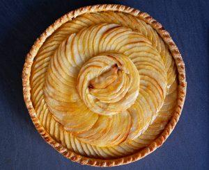 Dernière version de la tarte aux pommes. On voit l'évolution avec la prise d'expérience