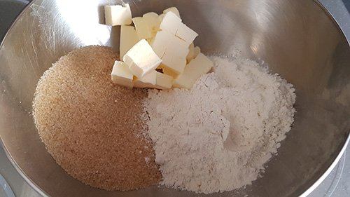 Craquelin - mélangez ensemble les ingrédients