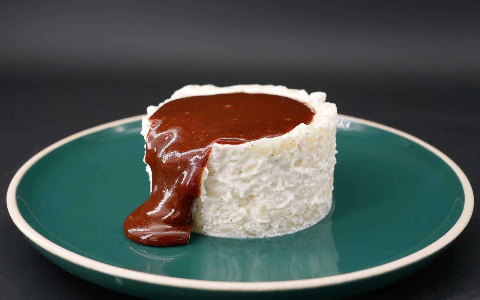 Riz au lait sauce caramel