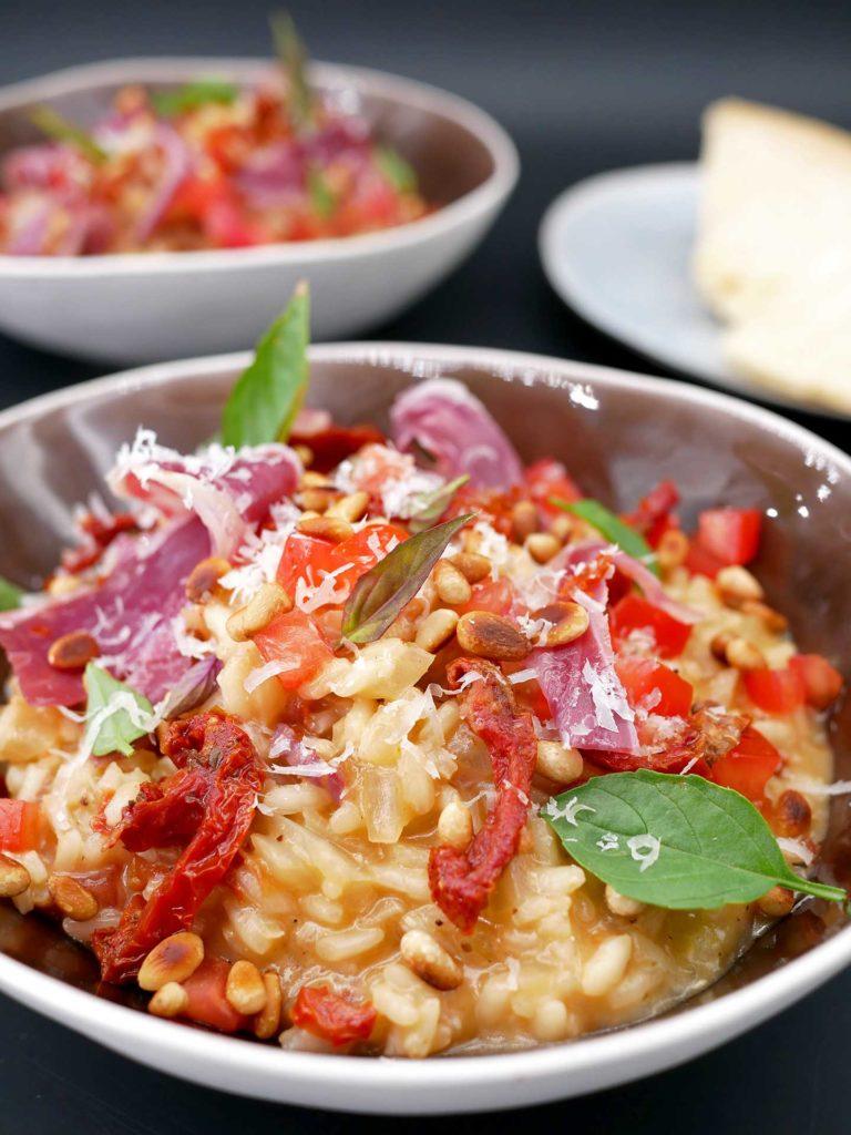 Risotto au Pana Negra et tomates confites