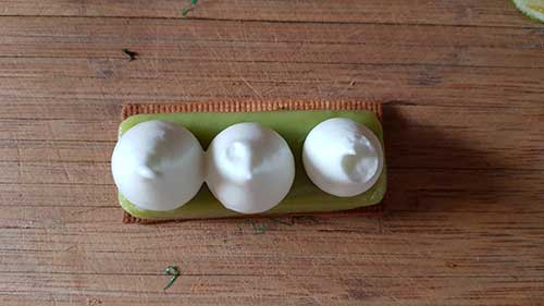 Tarte Mojito - pochage de la meringue