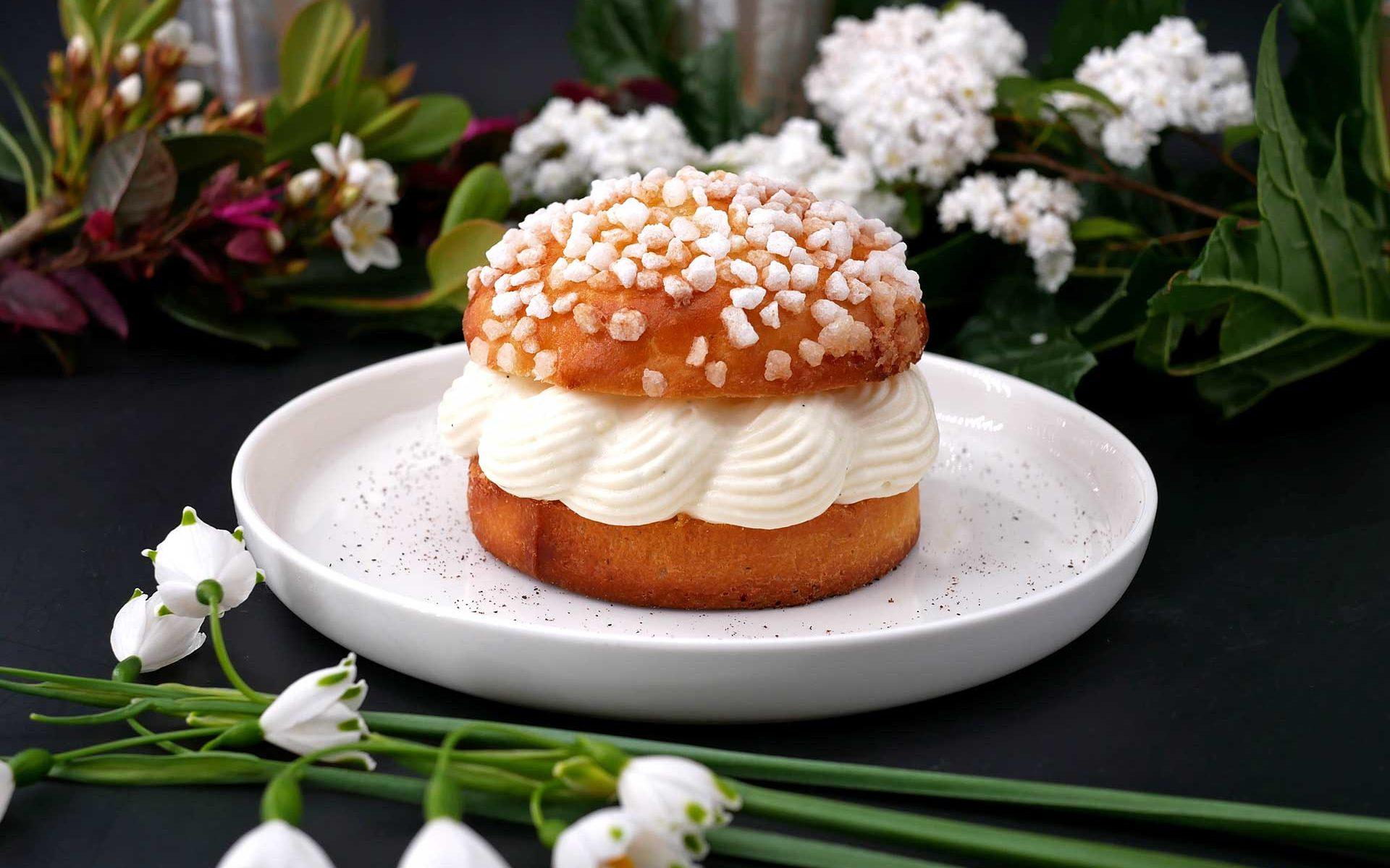 Tartelette tropézienne - crème diplomate et fleur d'oranger