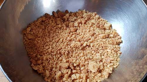 Biscuit reconstitué - écraser les sablés bretons