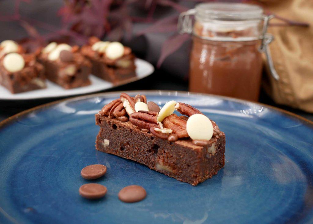 Brownie trois chocolats et pécans