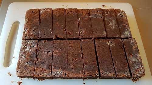 Brownie - la découpe