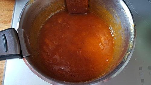 Confit abricot fumé - cuire