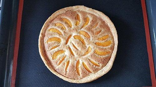 Tarte abricot - Cuisson de la crème d'amande