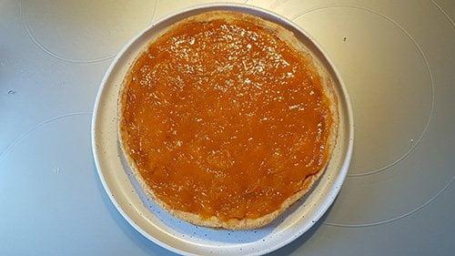 Tarte abricot - ajout du confit