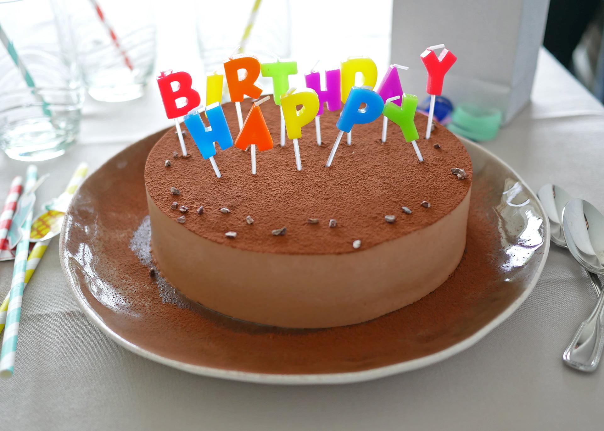 Gâteau d'anniversaire au chocolat rapide - Entremets brownie ganache montée