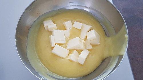 Crème au citron - Ajout du beurre