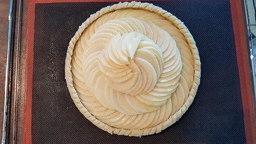 Tarte aux pommes - dressage et cuisson