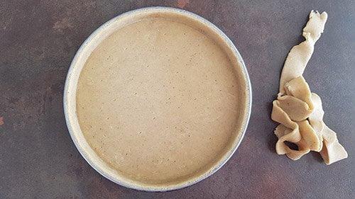 Pâte sucrée - fonçage pour cuisson à blanc
