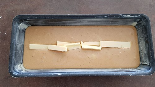 Appareil à cake aux marrons - la cuisson