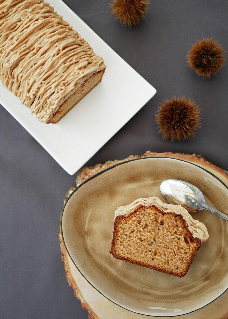 Cake aux marrons - vue du dessus