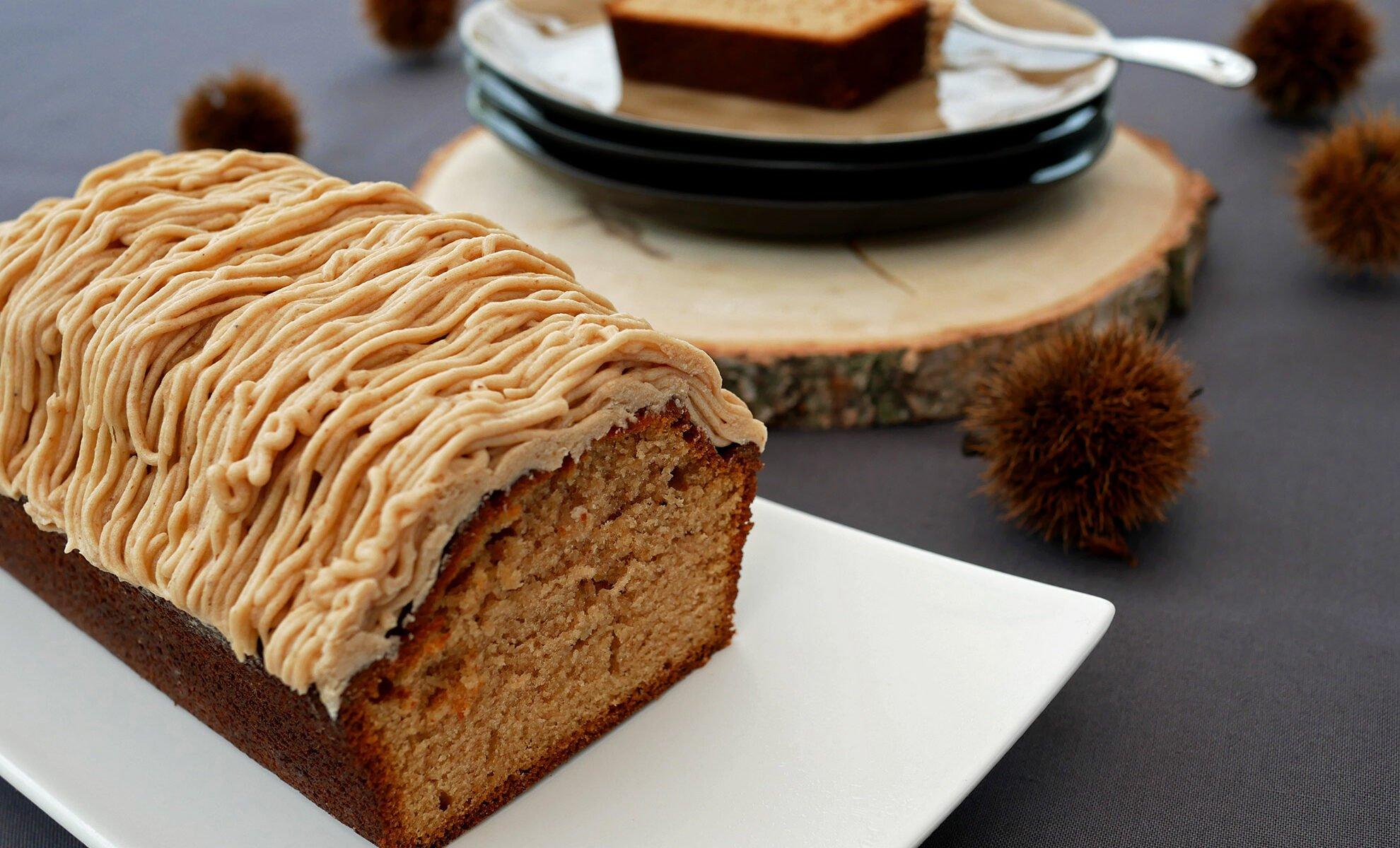 Cake aux marrons - topping crème de marron