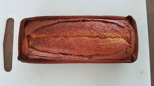 Le montage - le cake aux marrons cuit