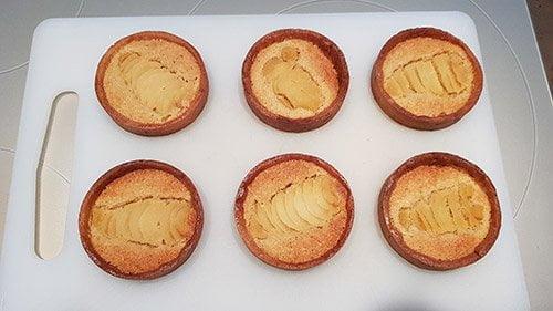 Montage tartelette poire chocolat - 2ème cuisson