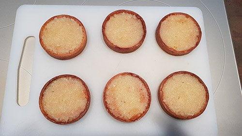 Montage tartelette poire chocolat - la purée de poire