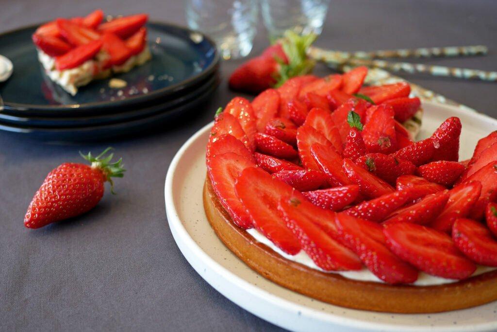 Tarte aux fraises - découpe