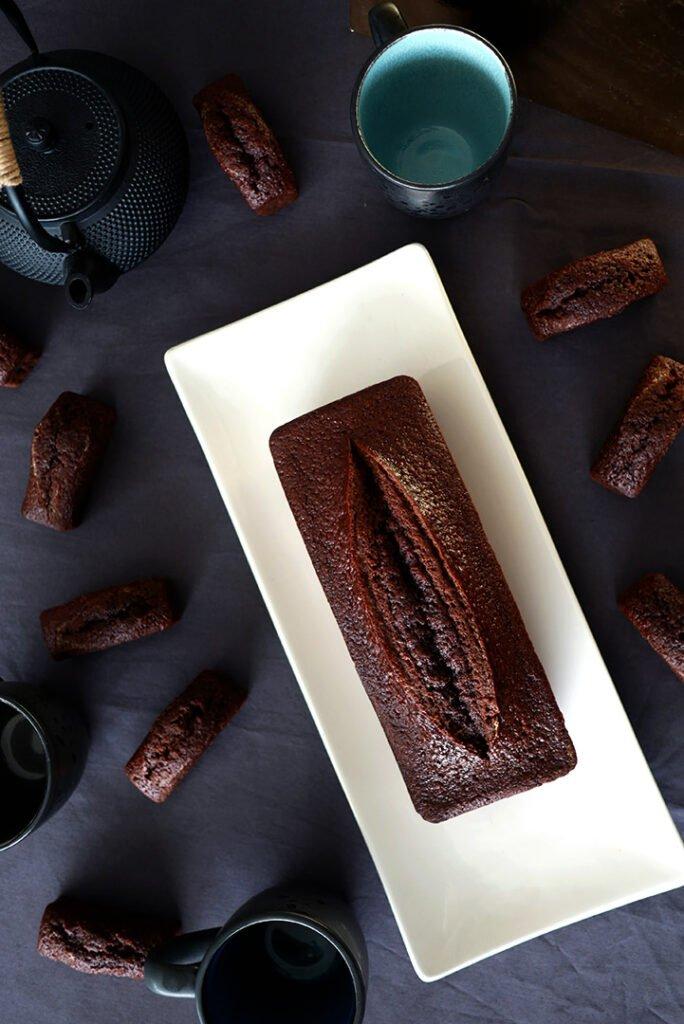 Cake au chocolat vu du dessus